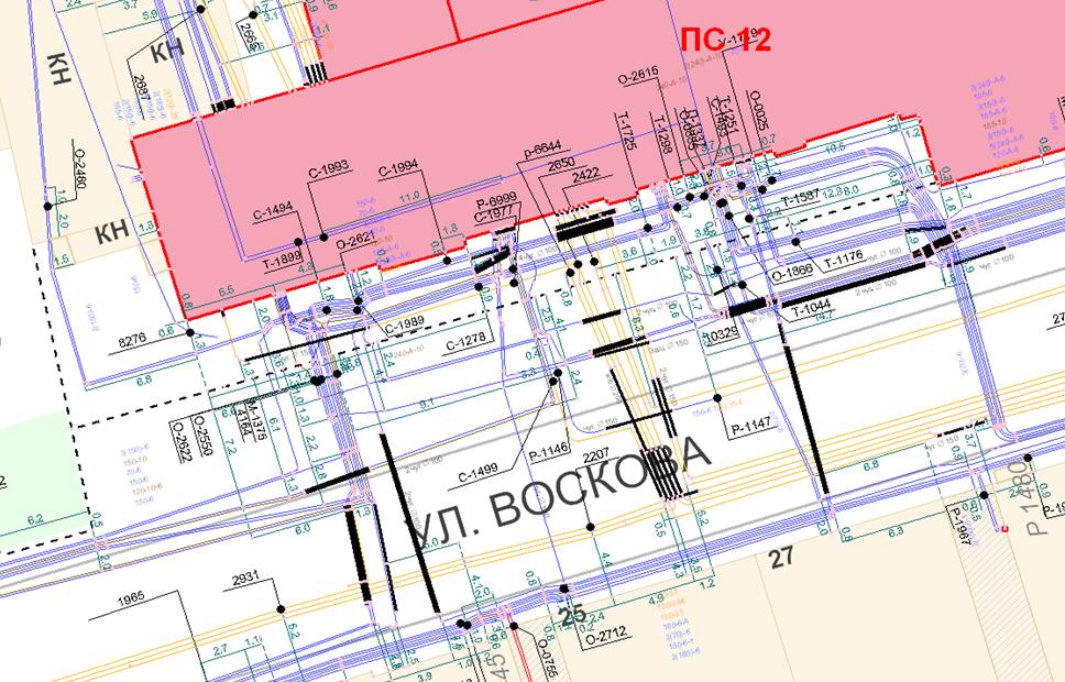 Фрагмент электронного архива исполнительной документации службы кабельных трасс