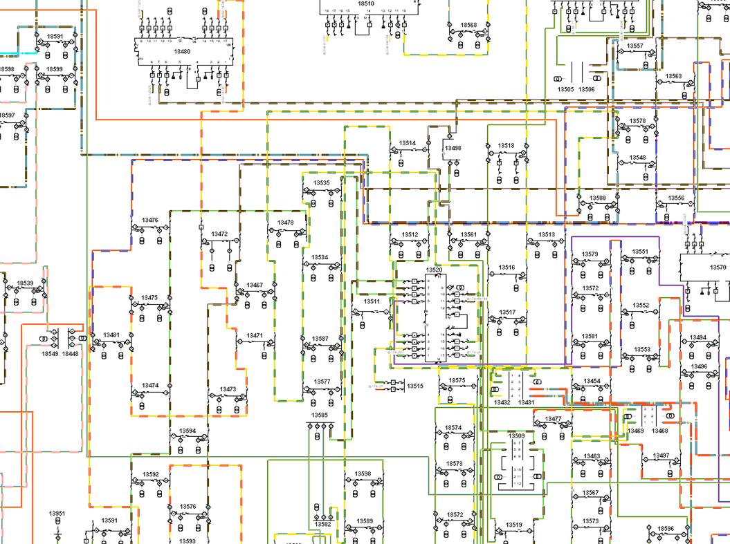 Фрагмент электронного представления диспетчерского щита