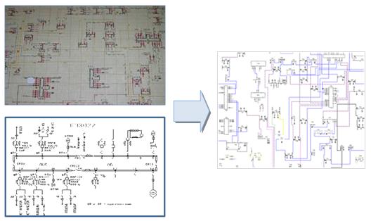 Формирование электронных схем кабельной сети